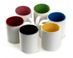 Caneca Porcelana Interior Colorido