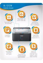 Impressora Laser Monocromática HL1212W Brother