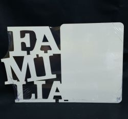 Porta Retrato A4 MDF - Tema: Família