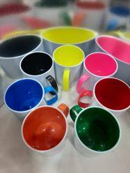 Caneca de Polímero C/ Alça e Interno Colorido
