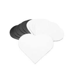 Pacote C/ 10 Imãs Tamanho 9 x 9 cm Coração para Sublimação