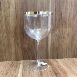 Taça Gin Borda Dourada