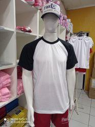 Atacado Camisa Raglan Branca e Preta