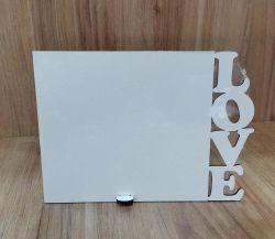 Porta Retrato MDF 13x18 - Tema: LOVE