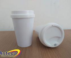 Copo Bucks  Branco 400 ml C/ Tampa Branca