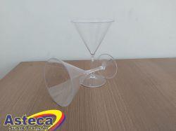 Atacado Taça Martini Acrílica Cristal