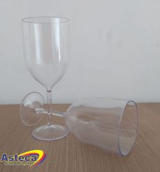 Taça Vinho Acrílica Cristal