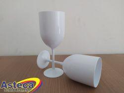Atacado Taça Vinho Acrílica Branco
