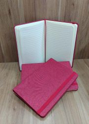 Caderno Capa Dura Tecido Poliéster 13,7 x 21